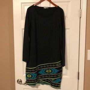 Black dress with decorative bottom size 14